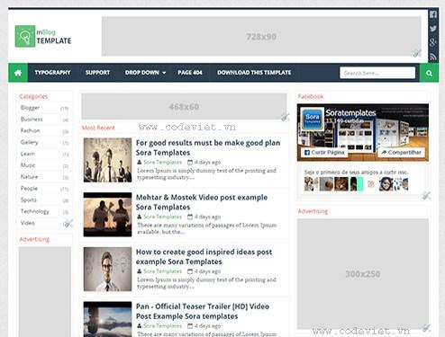 mBlog – Blogger Template For News - Vni Templates
