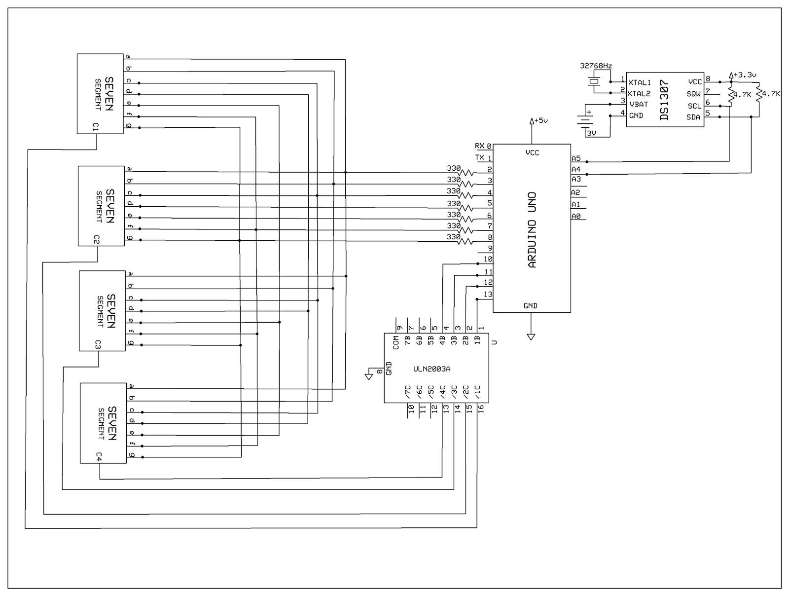 EMERGING TECHNOLOGIES: CLOCK USING RTC IC DS1307,ARDUINO