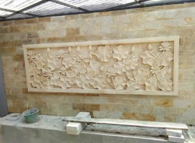 Jenis Batu Alam Ukir Dekorasi Dinding Ornament