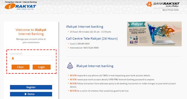cara bayar pinjaman yayasan bank rakyat secara online
