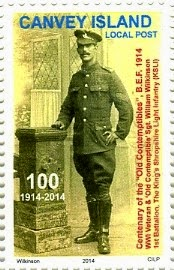 Old Contemptibles 1914 Centenary Stamp