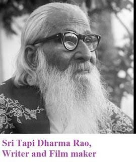 Thapi Dharma Rao Naidu (1887–1973) was a Telugu writer, lyricist and social reformer. He wrote dialogues and lyrics for the films like Mala Pilla, Drohi, Thathaji, Bhishma, and Patni. He was awarded the Sahitya Akademi Award for Indian Literature. He had authored many books which were the eye openers for many in the field of social sciences in India, in particular South India. His books Vidhi Vilasam, Devalayala paina bootu Bommalu endhuku and many more have found a place in the annals of Indian literature.      కొందరు సేవ చేయించుకోవడం కోసమే పుట్టినట్టుంటారు. మరికొందరు సేవ చేయడంకోసమే జన్మించినట్టుంటారు. ఇందులో ఆంధ్ర విశారద తాపీ ధర్మారావు రెండో కోవకు చెందినవారు. తెలుగు సాహిత్యానికి తన రచనల ద్వారా ఉత్తేజాన్ని కలిగించిన గొప్ప దార్శనికుడు ఆయన. తెలుగు భాషలో కొత్త పదాలెన్నింటినో సృష్టించి ఖ్యాతి పొందిన వారిలో తాపీ తొలి పంక్తిలో ఉంటారు. ఎ బర్డ్స్ ఐవ్యూ- విహంగ వీక్షణానికి- పిట్ట చూపు అని చక్కని పద సృష్టి చేశారాయన. తెలుగు దినపత్రికల్లో, చలనచిత్రాల్లో తొలిసారిగా వ్యవహారిక భాషకు శ్రీకారం చుట్టింది ఆయనే. పర్లాకిమిడి కళాశాలలో ఎఫ్.ఏ. చదువుతున్నప్పుడు గిడుగు వెంకటరామ్మూర్తి తాపీకి గురువుకావడం విశేషం. అంచేతనే గిడుగు ప్రభావం తాపీపై ఎంతోకొంత పడింది. సాహితీవేత్తగా, చరిత్ర పరిశోధకునిగా, ఉపాధ్యాయునిగా, తెలుగు చలనచిత్రాల సంభాషణల రచయితగా ఆయన చేసిన సేవలు వెలకట్టలేనివి. ''పెళ్ళి దాని పుట్టుపూర్వోత్తరాలు'', ''దేవాలయాలపై బూతుబొమ్మలెందుకు?'', ''రారుూ రప్పలు'', ''ఇనుప కచ్చడాలు'', ''మబ్బుతెరలు'', ''పాత పాళీ'', ''కొత్త పాళీ'', ''ఆలిండియా అడుక్కుతినేవాళ్ళ మహాసభ'' తదితర రచనలతో ఆంధ్రప్రదేశ్లో సరికొత్త ప్రభంజనాన్ని సృష్టించారు. చేమకూర వెంకటకవి రాసిన 'విజయ విలాసానికి' ధర్మారావు వెలయించిన హృదయోల్లాస వ్యాఖ్య ఎంతో ప్రాచుర్యం పొందింది. 'విజయ విలాసం'కావ్యాన్ని ఒక్కసారి చదివితే చాలు ఎవరైనాసరే ఉత్తమ కవిగా పరిణమిస్తాడని మహాకవి శ్రీశ్రీ విశాఖపట్నంలో 1973లో జరిగిన ఓ సభలో పేర్కొన్నారు. అంతటి మహాకావ్యానికి సరళ సుందరమైన వ్యాఖ్యానం రాసిన అవకాశం, అదృష్టాన్ని తాపీ దక్కించుకున్నారు. తెలుగు సాహితీ వినీలాకాశంలో విరిసిన ఇంద్రధనుస్సులాంటి ధర్మారావు ఉత్తరాంధ్ర సరిహద్దు అయిన గంజాం జిల్లా బరంపురంలో 1887 సెప్టెంబరు 19 జన్మించ