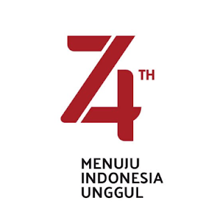 Logo Resmi HUT RI 74 Corel, PNG, Vector, Transparan