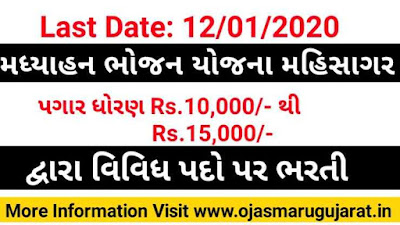 MDM Mahisagar, MDM Mahisagar Recruitment, Mahisagar job Vacancy, Mahisagar Job Recruitment 2020,