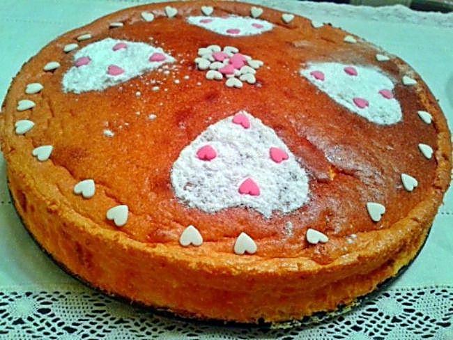 Tarta de queso San Valentín