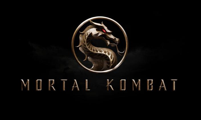Imagem de capa: fundo preto com o logo do Mortal Kombat em bronze: um círculo com um dragão com um olho vermelho.