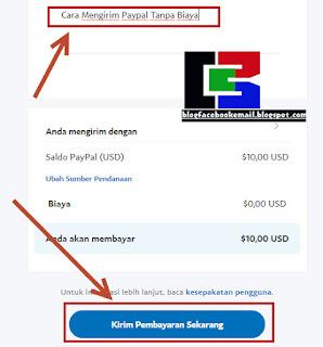 cara mengirim paypal terbaru