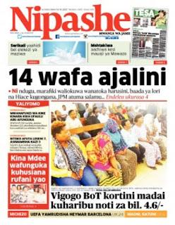 Habari kubwa za Magazeti ya Tanzania leo December 15, 2020