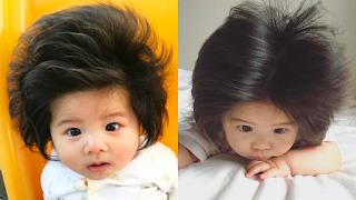 Η νέα σταρ των σαμπουάν είναι μόλις 12 μηνών και έχει γίνει viral για τα φουντωτά της μαλλιά