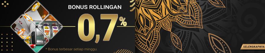 BONUS ROLLINGAN LIVE GAME KASINO 0.7%