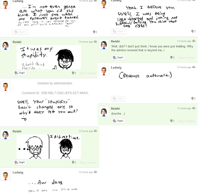 Miiverse user stupidity violation joke