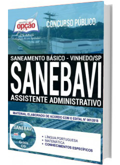 Apostila Concurso SANEBAVI 2018 Assistente Administrativo