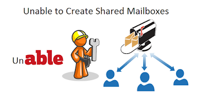 Unable to create shared mailboxes from CSV