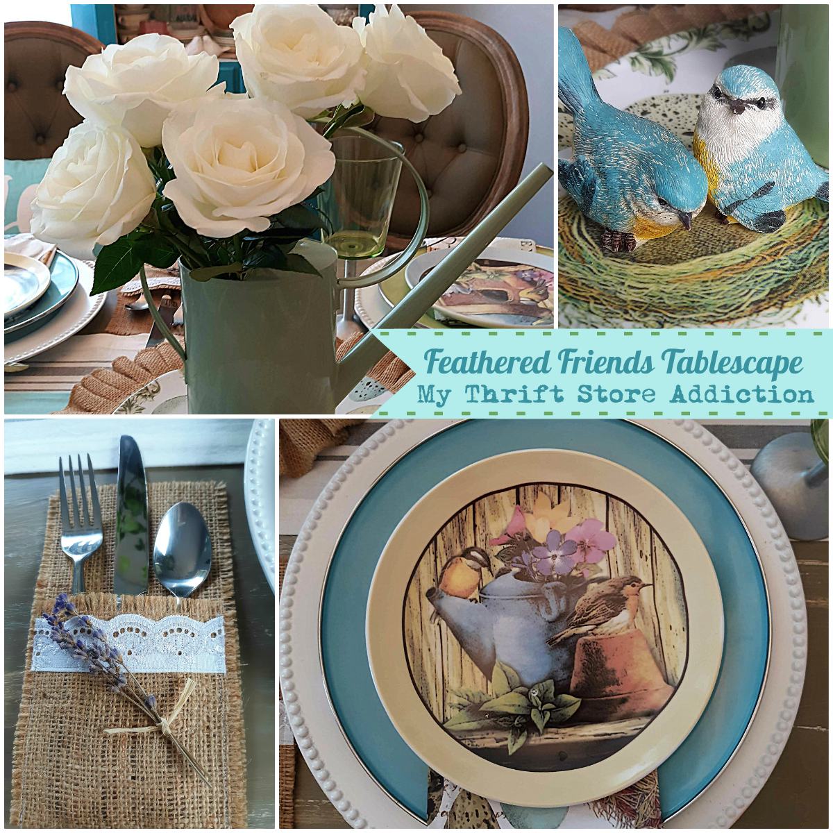 Feathered Friends tablescape