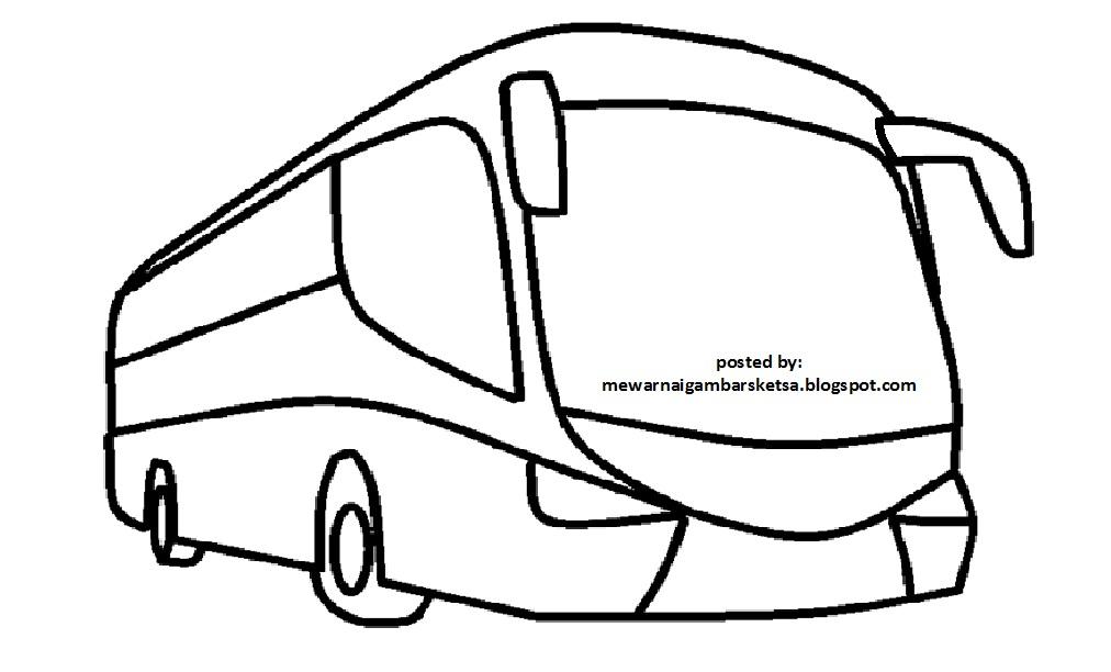 Mewarnai Gambar Mewarnai Gambar Bus 6