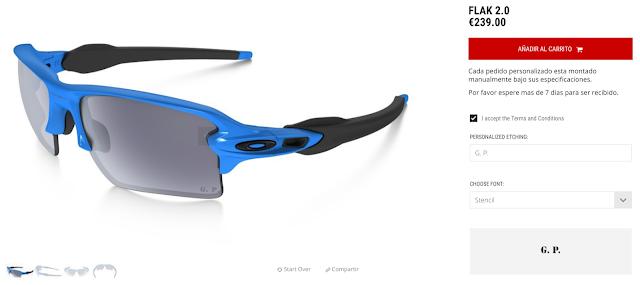 Personalizador on line de Gafas Oakley