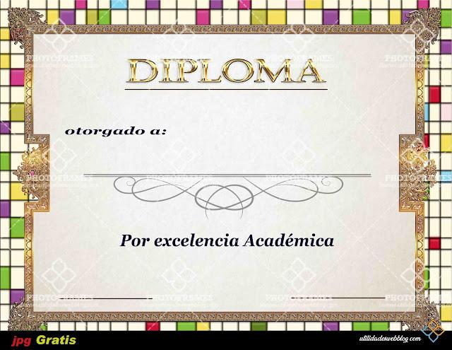Plantilla para diploma de reconocimiento a la excelencia lista para imprimir
