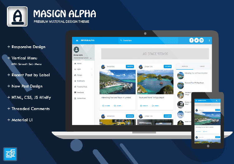 Masign Alpha Premium Version 2.0 - Responsive Blogger Template