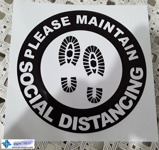 Waterproof Vinyl Social Distancing Floor Stickers
