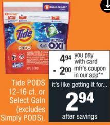 Tide Pods CVS Coupon Deal $0.94  8-18 8-24