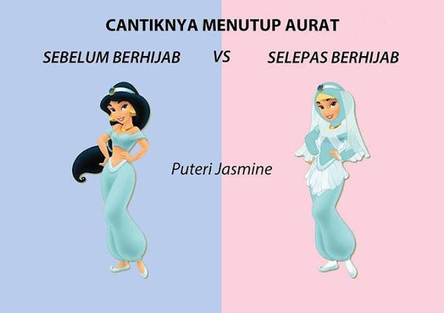 Lihatlah, Betapa Cantiknya Jika Para Putri dalam Dongeng Memakai Hijab