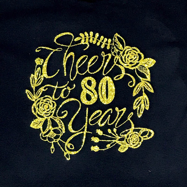 Cheers To 80 Years SVG Design by Thistle Thicket Studio. www.thistlethicketstudio.com