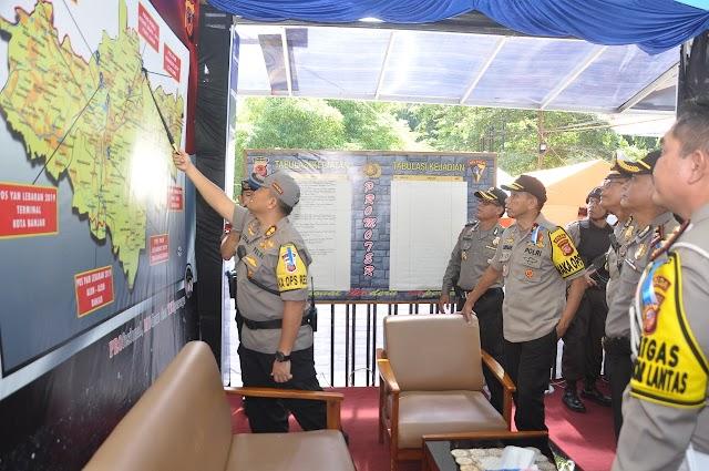 Wakapolda Jabar Kunjungi Pos Pam Lebaran Wilayah Hukum Polres Banjar