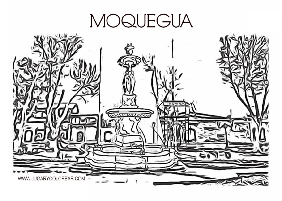 Colorear Dibujos De Moquegua Perú