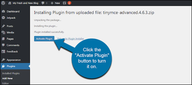 ativar plugin