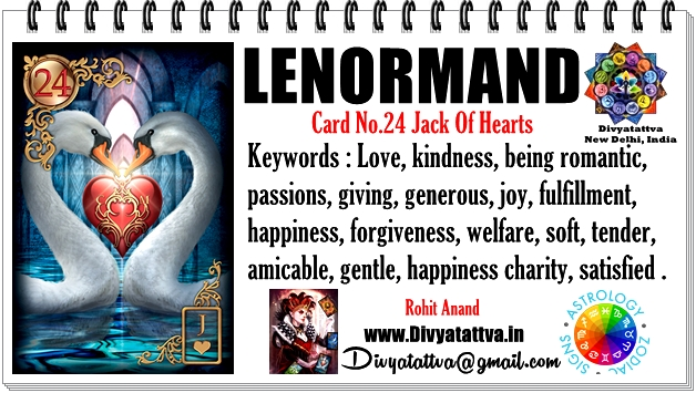 lenormand heart card,lenormand consultations, lenormand predictions, lenormand card readings, lenormand Yes or No card oracle reading from shri Rohit Anand online
