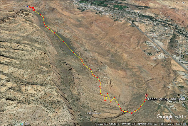 Hidden Valley Trail map, Moab