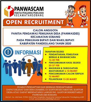 Informasi Rekrutmen Panwas Desa Se Kecamatan Sobang Pandeglang Banten Pilkada 2020