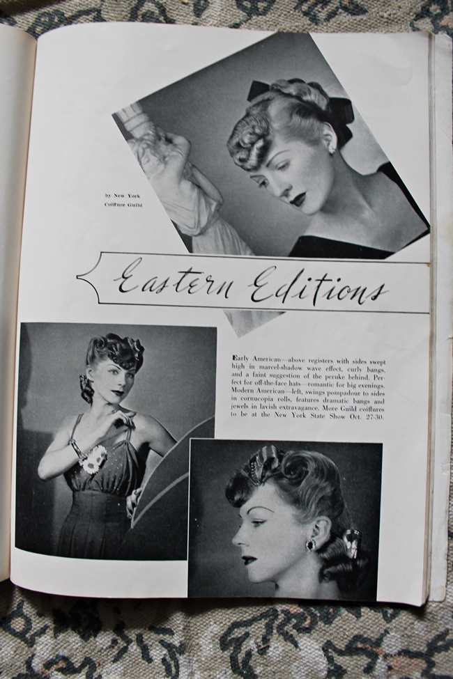 1940s pin curl hair waves hair tutorial from American Hairdresser magazine