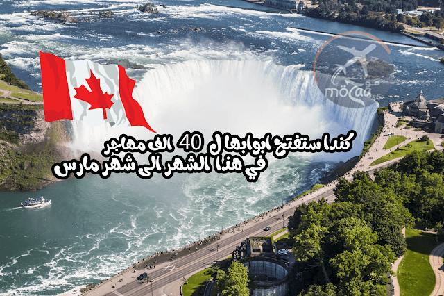كندا ستفتح  أبوابها لأكثر من 40،000 متقدم للهجرة في شهر فبراير