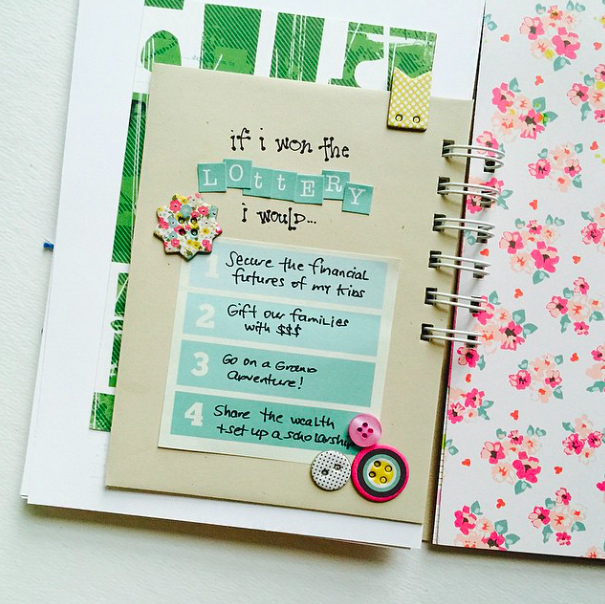 Sneak a peek at my #listersgottalist mini book using a smash book style journal from the iloveitall.etsy.om shop!