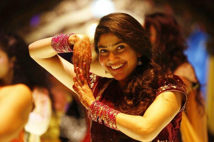 Sai Pallavi In Maroon Lehenga Choli From Fidaa Telugu Movie
