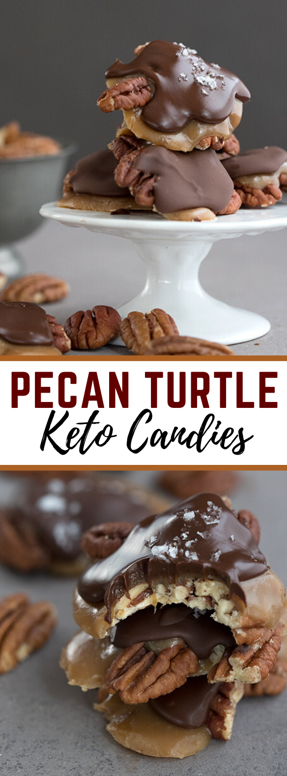 PECAN TURTLE CANDY – SUGAR FREE! #desserts #chocolate