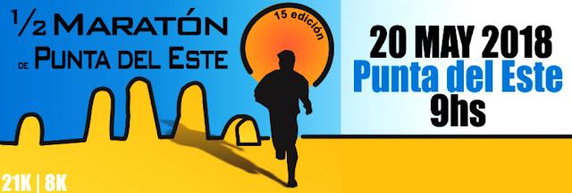21k y 8k Media maratón de Punta del Este (15ª ed., Maldonado, 20/may/2018)