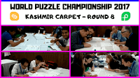 World Puzzle Championship 2017 Round 8 named Kashmir Carpet