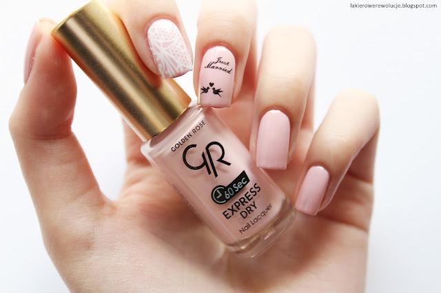 Expressowy manicure ślubny