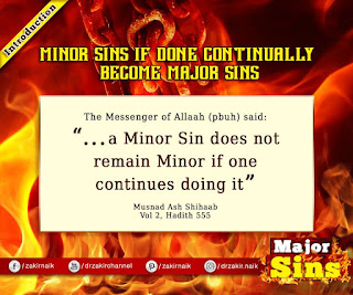 MINOR SINS IF DONE CONTINUALLY BECOME MAJOR SIN