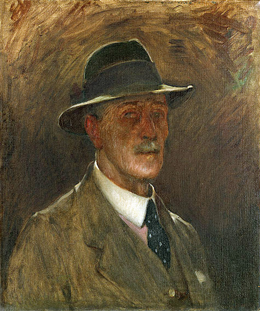 Bernard Hall, Self Portrait, Portraits of Painters, Fine arts, Portraits of painters blog, Paintings of Bernard Hall, Painter Bernard Hall