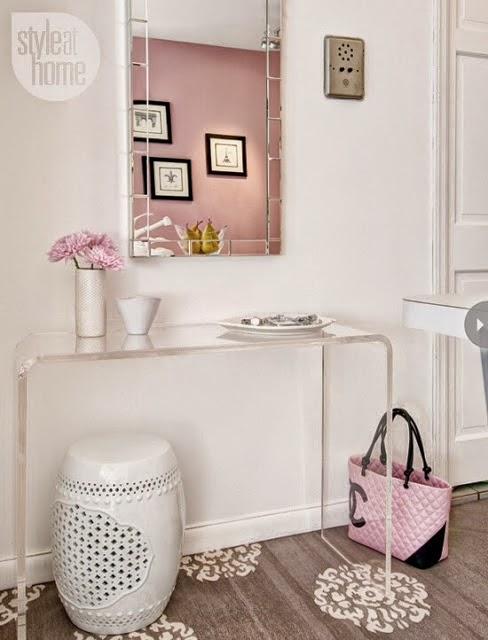 Artesanato Com Eva E Garrafa Pet ~ Construindo Minha Casa Clean 50 Hall de Entrada de Casas