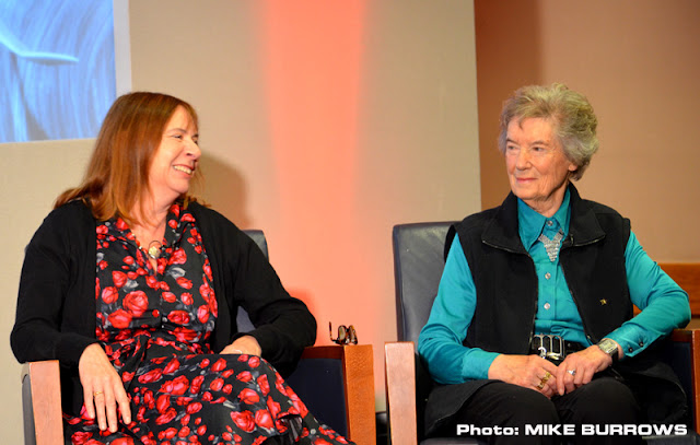 Mary Turner (rights) alongside Judy Preece (left) at Special Assignment in 2017