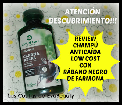 Review Champú anticaída low cost con rábano negro de Farmona
