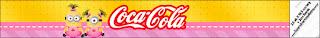 Etiqueta de  Minions Chicas para personalizar botella