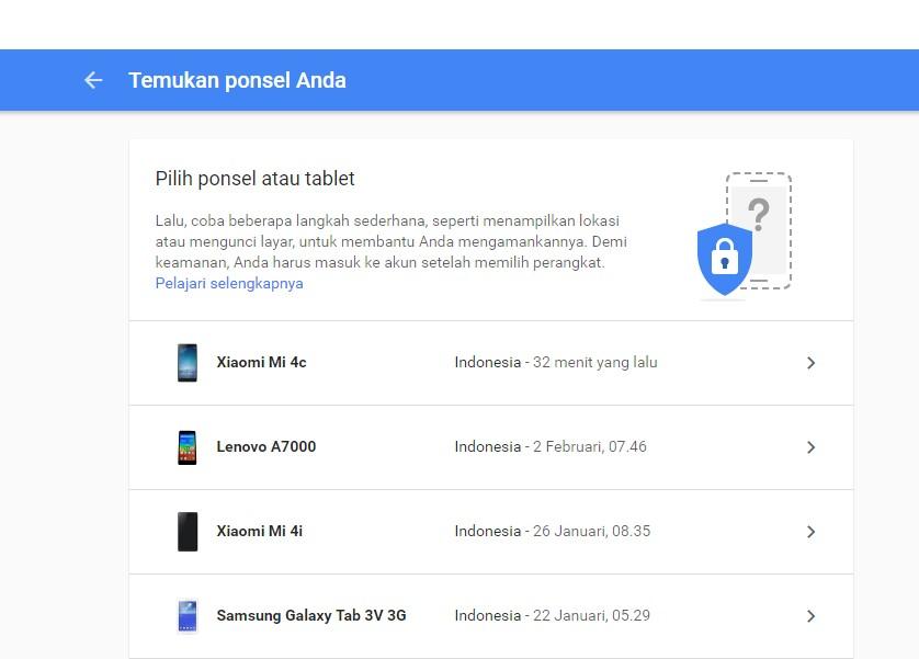 Cara Mencari Hp Yang Hilang Via Google Account Melacak No Hp
