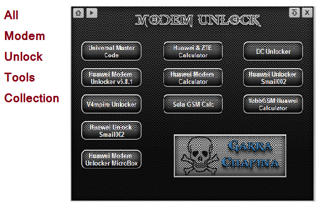 All In One Modem Unlocker Tools