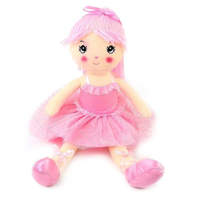 Pink Ballerina Stuffed Girl Plush Doll