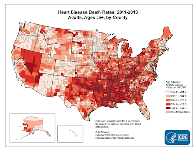 Heart Disease Death Rates, Infographic, CDC